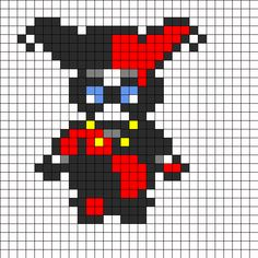 Harley Quinn Perler Bead Perler Bead Pattern   Bead Sprites   Characters Fuse Bead Patterns