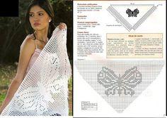 Beautiful. Butterfly shawl.