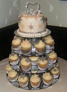Winter Wedding Cupcakes | winter wedding snowflake cake cupcakes micky minnie winter snowflake ...