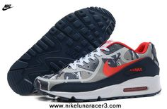New Nike Air Max 90 2013 Differentiation Grey Red Black Womens Shoes For Sale