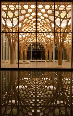 Shigeru Ban, architect. Nine Bridges Resort, Jeju Island, South Korea.