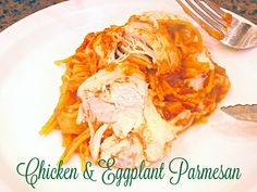 Slow Cooker Chicken & Eggplant Parmesan. This will be your cold weather go-to recipe! www.lorisculinarycreations.com