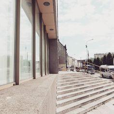Gallery of Contemporary Art National Museum in Poznań 2001 architects: Marian Trzask Witold Gyurkovich  #podrys #instaphoto #inspiration #city #life #street #beautiful #travel #happy #day #landscape #light #wall #building #urban #art #architecture #archilovers #details #design #pattern #geometry #modernism #modernizm #minimal #sun #poland #poznan #museum #galleryart