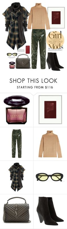 """18.12.17"" by caglatersak ❤ liked on Polyvore featuring Versace, Lillian August, Carven, The Kooples, Vivienne Westwood Anglomania, Kershaw, Elizabeth and James, Yves Saint Laurent, Winter and Christmas"