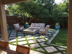 We just completed this project In Dallas. It features Belgard concrete Pavers… - Fresh Yard Ideas