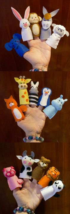 New Sewing Baby Book Finger Puppets Ideas Felt Puppets, Felt Finger Puppets, Felt Diy, Felt Crafts, Diy For Kids, Crafts For Kids, Felt Books, Quiet Books, Operation Christmas Child