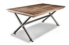 steigerhouten tafel very metal