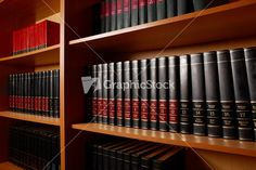 Photo Of Shelves With Books In Big Library Of Educational Institution Stock Image