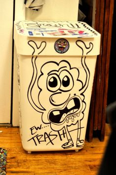 Trashcan couture by NYC artist TY #cloudzbyTY