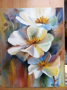 Beautiful white flower painting could be done in watercolor. Acrylic or oil painting. Beautiful white flower painting could be done in watercolor. Acrylic or oil painting. Oil Painting Flowers, Watercolor Flowers, Painting & Drawing, Watercolor Art, Drawing Flowers, Acrylic Flowers, China Painting, Arte Floral, Acrylic Painting Canvas