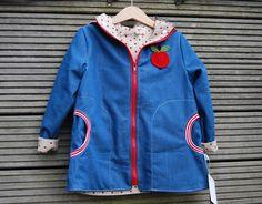 Jacken - Übergangsjacke Äpfelchen Gr.116 - ein Designerstück von einfach-schoen bei DaWanda