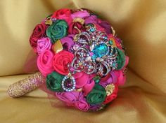 The Colors to the Jewels to the Gold Lace on the bottom.... Perfect for an India Inspired Wedding. Etsy.com