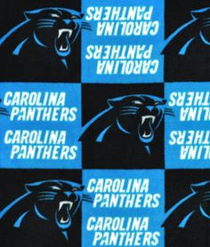 Carolina Panthers NFL Fleece Fabric