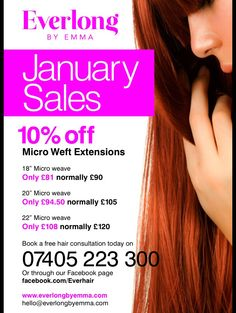 10% off all hair extensions www.facebook.com/Everhair