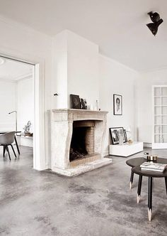 Poured concrete floor