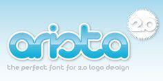Arista 2.0 - Desktop font « MyFonts  #tipografia