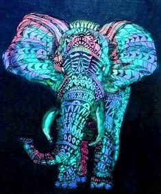 beautiful colour combos in this elephant! love it @Jennifer Milsaps L Milsaps L Beals