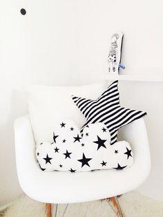 - Kids Pillows - Ideas of Kids Pillows Baby Pillows, Kids Pillows, Floor Pillows, Black And White Cushions, Black White, Cloud Cushion, Applique Pillows, White Nursery, Baby Room Decor