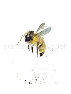 Free watercolor printable via bHome app.