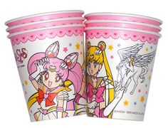 Moon sailor moon party paper cups