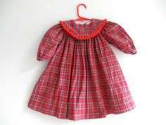 Vintage Baby Girl Dress 2T Kids Fashions Red by ThePoshBabyShoppe