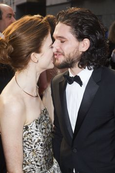 And they were almost too much. | Jon Snow And Ygritte Have Made Their Red Carpet Debut As A Real-Life Couple