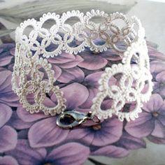 Loving the idea of lace bracelets.