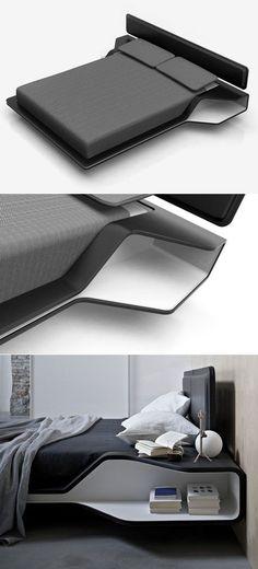 Hi tech bed by ora ito design studio