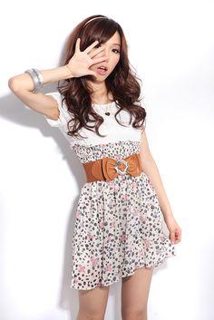 shirt belt mini dress casual style teenage girls 2012 beauty