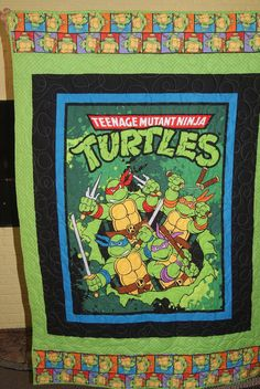 Teenage Mutant Ninja Turtles Quilt by SewMuch4me2do on Etsy