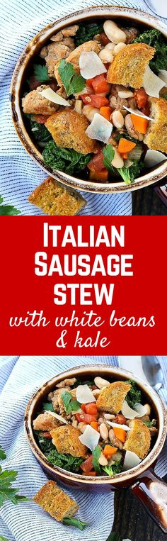 Is there anything better? This Italian Sausage Stew with White Beans ...