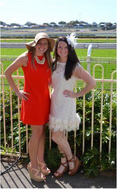 Horse Races in Australia.  Doobem, Brisbane, Eagle Farm #eaglefarm #horseraces #fashion #goldcoast #hats #fascinators #Australia #Doobem