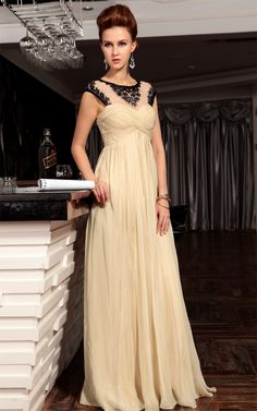 >> Click to Buy << Vestido Real 2017 Charming Draped A-line Scoop Neck Long Chiffon Evening Formal Dress Floor Length Hollow Back Prom Gown F136 #Affiliate