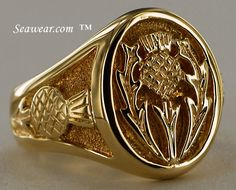 The Claddagh House in Toronto, Scottish Thistle | Gents Scottish Thistle Ring