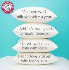 Machine wash pillows DIY Organization Hacks life hacks how to make your life easier Tips Life Hacks Easy DIY Do It Yourself Uses Hack Reuse Renew Easier How to Design Diy Cleaning Products, Cleaning Solutions, Cleaning Hacks, Cleaning Supplies, Deep Cleaning, Spring Cleaning Tips, Limpieza Natural, Do It Yourself Baby, Do It Yourself Inspiration
