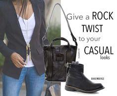 E' tempo di rispolverare il tuo jeans preferito, un blazer semplice, borsa Numer10 http://bit.ly/1wfNRWy e stivaletto #DirkBikkembergs http://bit.ly/1uvF9mR Look casual con una nota ROCK! #fallwinter #sales #saldi