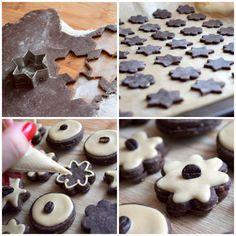 Kávové cukroví s královskou polevou - Avec Plaisir Cheesecake Brownies, Holiday Cookies, Graham Crackers, Sweet Recipes, Deserts, Food And Drink, Pudding, Xmas, Sweets