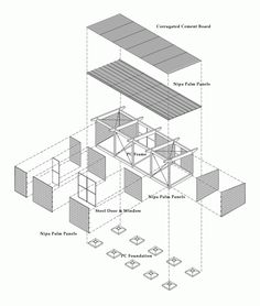 Gallery of S House / VTN Architects - 19 Gallery – S House / Vo Trong Nghia Architects – 19 Architecture Drawings, Architecture Plan, Architecture Details, Architecture Graphics, Design Despace, House Design, Interior Design, Small Buildings, Beautiful Buildings