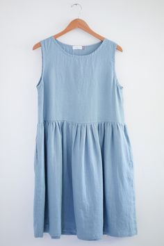 Swedish Blue Linen Dress