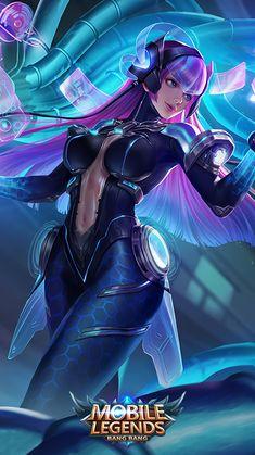 virus anime ML ; Zed Wallpaper, Hd Wallpaper Android, Mobile Legend Wallpaper, Bruno Mobile Legends, Miya Mobile Legends, Fantasy Women, Fantasy Girl, Game Character, Character Design