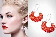 Vessel Earrings ($42): The intricate detail of these coral-like chandelier earrings is outrageous! Why waste natural resources when you can print your jewelry to look just like the real deal?