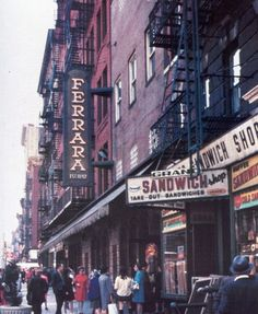1970's NYC! Ferrara, I still drop in for great cannoli when I go back to NYC!