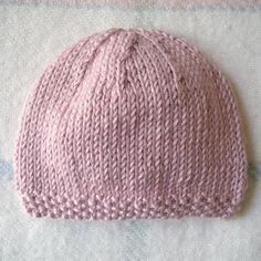 5e7af7d08f45 photo tricot modele tricot bonnet bébé naissance 18 Tricot Bonnet Facile,  Modèle De Bonnet En