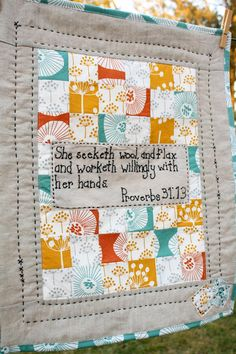 Love this verse to use in my sewing room :)