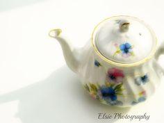 Pansy Pot  Whimsical Vintage Tea Pot Kitchen by ElsiePhotography, £5.00
