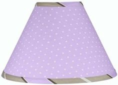 Sweet Jojo Designs Purple Mod Dots Lamp Shade available at TinyTotties.com #tinytotties #kidsroomdecor