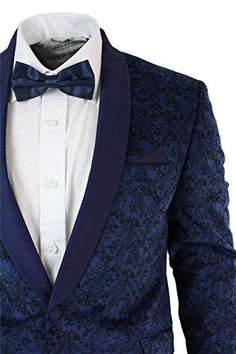 Mens Slim Fit Velvet Paisley Blazer & Trouser Tuxedo Dinner Suit Blue Satin Trim We Designed It I.K Design Price Wedding Men, Wedding Suits, Blue Tuxedo Wedding, Mens Fashion Suits, Mens Suits, Blue Velvet Suit, Velvet Blazer Mens, Mens Smart Trousers, Dinner Suit