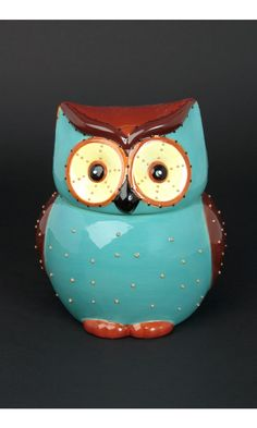 Owl Cookie Jar via joy.com