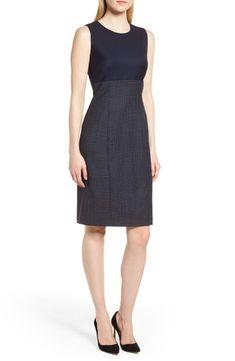 295840914e New BOSS Dibena Windowpane Sheath Dress (Regular Petite) online.   545   fgofashion offers on top store