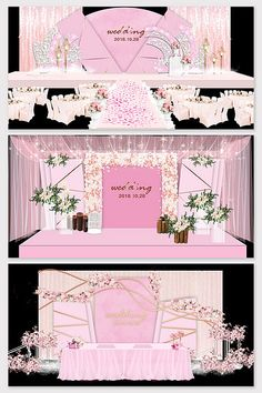 Nordic beautiful pink wedding stage renderings#pikbest#decors-models Wedding Stage Design, Stage Background, European Wedding, 3d Models, Red Fashion, Business Card Logo, Sign Design, Wedding Decorations, Decor Ideas